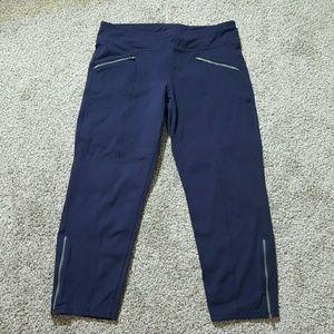 Athleta navy blue sport capri size S